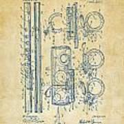 1909 Flute Patent - Vintage Art Print