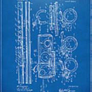 1909 Flute Patent - Blueprint Art Print