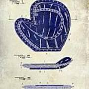 1910 Baseball Patent Drawing 2 Tone Art Print