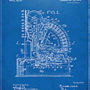 1910 Cash Register Patent Blueprint Art Print