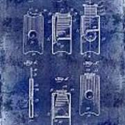 1910 Cigar Cutter Patent Drawing Blue Art Print
