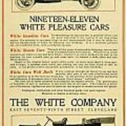 1911 - White Automobile Company Advertisement Art Print