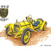 1911 1912 Mercer Raceabout R 35 Art Print