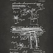 1911 Automatic Firearm Patent Artwork - Gray Art Print