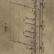 1911 Steamship Patent Art Print