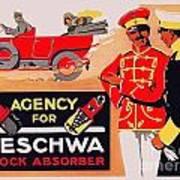 1913 - Geschwa Automobile Shock Absorber Adbertisement - Color Art Print