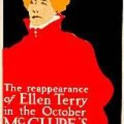 1913 - Mcclures Magazine Poster Advertisement - Ellen Terry - Color Art Print