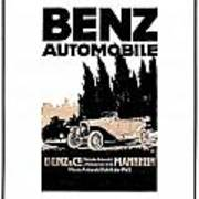 1914 - Benz Automobile Poster Advertisement - Color Art Print