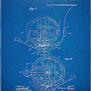 1914 french horn patent blueprint framed print by nikki marie smith 1914 french horn patent blueprint poster malvernweather Images