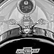 1915 Chevrolet Touring Hood Ornament - Moto Meter Art Print