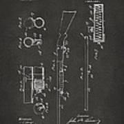 1915 Ithaca Shotgun Patent Gray Art Print