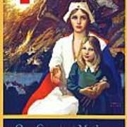 1917 - Red Cross Nursing Recruiting Poster - World War One - Color Art Print