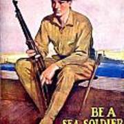 1917 - United States Marines Recruiting Poster - World War One - Color Art Print