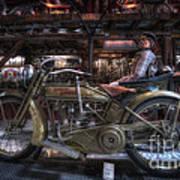 1917 Harley Davidson Art Print