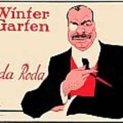 1918 - Wintergarten Poster - Roda Roda - Stephan Krotowski - Color Art Print