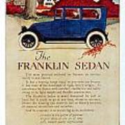 1919 - Franklin Sedan Advertisement - Color Art Print