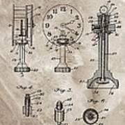 1920 Clock Patent Art Print