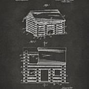 1920 Lincoln Logs Patent Artwork - Gray Art Print
