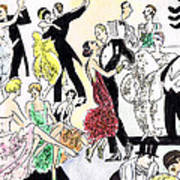 1920s Party Art Print