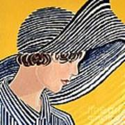 1920s Sun Hat Art Print
