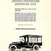 1921 - Dodge Brothers Business Car Truck Advertisement Art Print