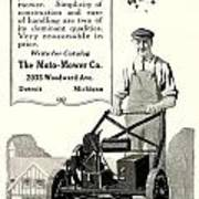 1921 - Moto Mower Lawnmower Advertisement Art Print