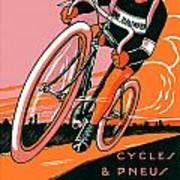 1921 - Van Hauwaert Bicycle Belgian Advertisement Poster - Color Art Print