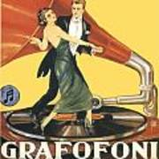 1922 - Columbia Gramophone Company Italian Advertising Poster - Color Art Print