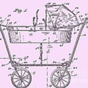 1922 Baby Carriage Patent Art Pink Art Print