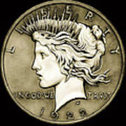 1922 Circulated Peace Dollar Art Print