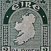 1922 Ireland Eire Stamp Art Print
