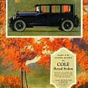 1923 - Cole Royal Sedan - Advertisement - Color Art Print