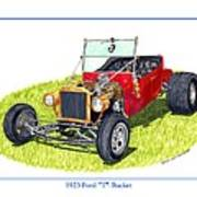 T Bucket Ford 1923 Art Print