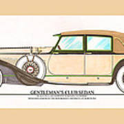 1923 Hispano Suiza Club Sedan By R.h.dietrich Art Print