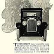 1924 - Buick Six Advertisement Art Print