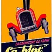 1924 - Ca-bloc Brakes French Advertisement Poster - Color Art Print