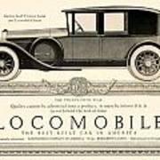 1924 - Locomobile Victoria Sedan Automobile Advertisement Art Print