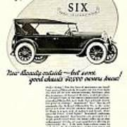 1924 - Oldsmobile Six Automobile Advertisement Art Print