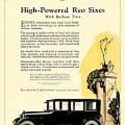 1924 - Reo Six Automobile Advertisement - Color Art Print