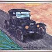 1924' Ford Model-t Touring Art Print