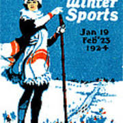 1924 Montreal Winter Sports Poster Art Print