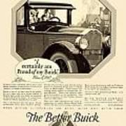 1925 - Buick Automobile Advertisement Art Print