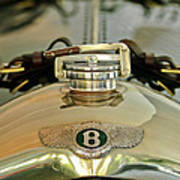 1925 Bentley 3-liter 100mph Supersports Brooklands Two-seater Radiator Cap Art Print