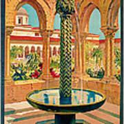 1925 Monreale Vintage Travel Art Art Print