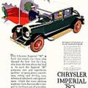 1926 - Chrysler Imperial Convertible Model 80 Automobile Advertisement - Color Art Print