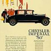 1927 - Chrysler Imperial Model 80 Automobile Advertisement - Color Art Print
