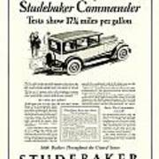1927 - Studebaker Commander Automobile Advertisement Art Print