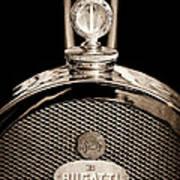 1927 Bugatti Replica Hood Ornament - Emblem Art Print