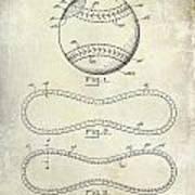 1928 Baseball Patent Drawing  Art Print