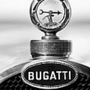1928 Bugatti Type 44 Cabriolet Hood Ornament - Emblem Art Print